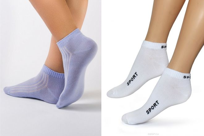 short women's socks