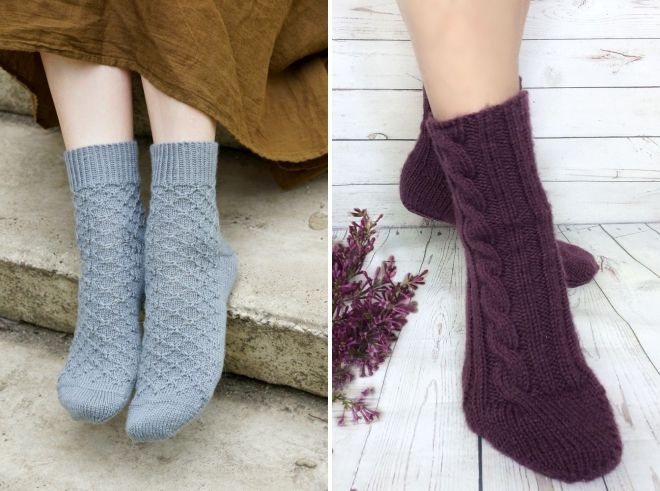 women's beautiful knitted socks