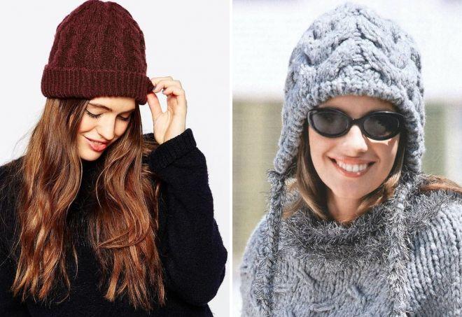 4ca955b0819d Зимние вязаные шапки – с отворотом, помпоном, ушками, мехом ...