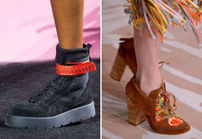 женские ботинки весна 2018