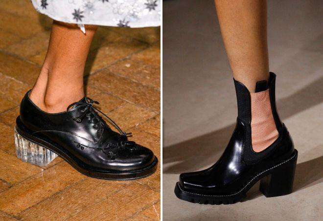 ботинки на каблуке 2018