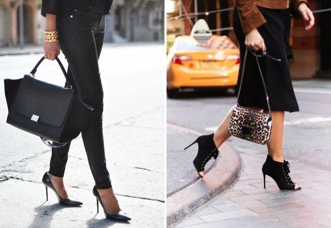туфли черного цвета на каблуке