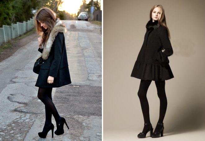 красивые черные туфли на каблуке