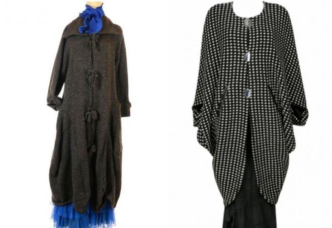 Модные пальто для полных девушек и женщин – пончо и ...
