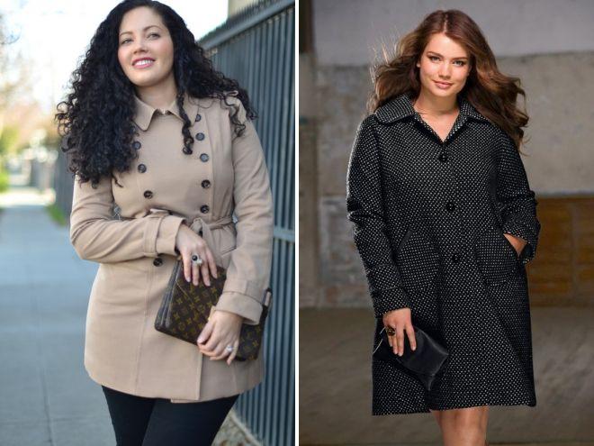 9a838a5eae1 Модные пальто для полных девушек и женщин – пончо и трапеция ...