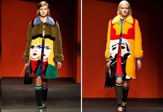 Пальто в стиле поп арт