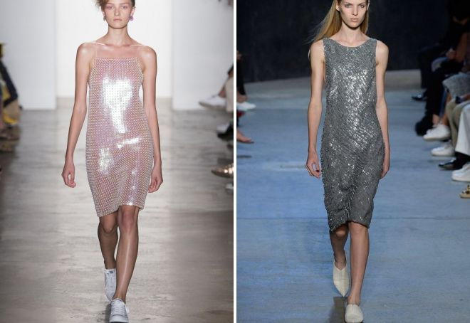 повседневные платья с пайетками