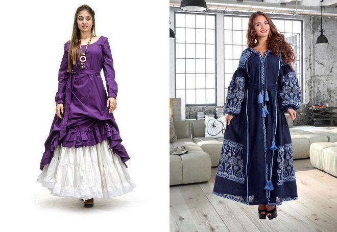 красивое длинное платье с рукавами