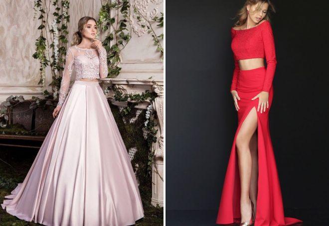 нарядные длинные платья с рукавами