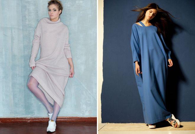 женские длинные платья с длинным рукавом
