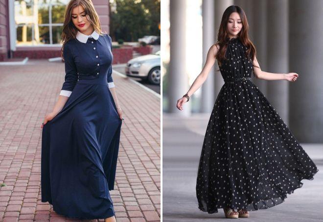 платья длинные на каждый день фото