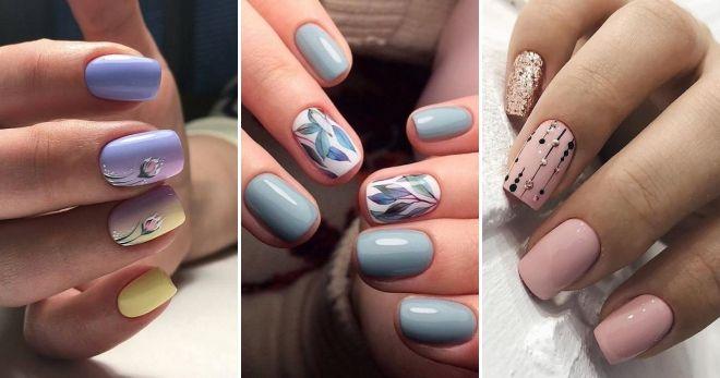 Дизайн коротких ногтей 2019 лето