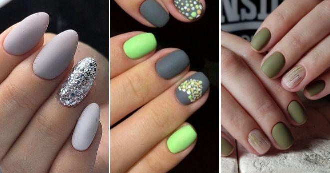 Матовые ногти 2019 года мода
