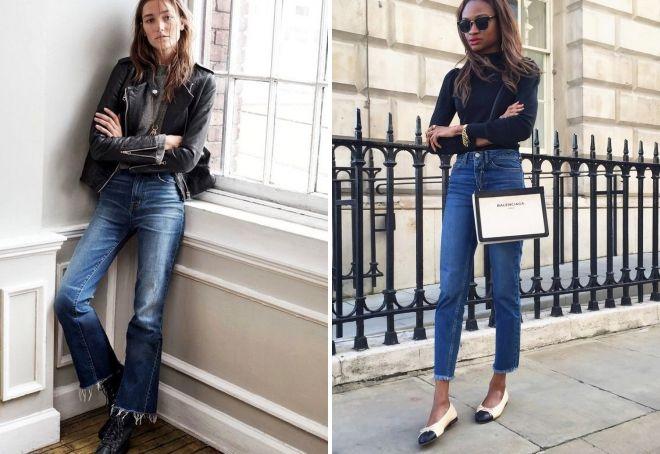 с чем носить джинсы с оборванным низом