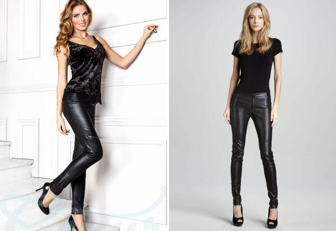 узкие кожаные брюки
