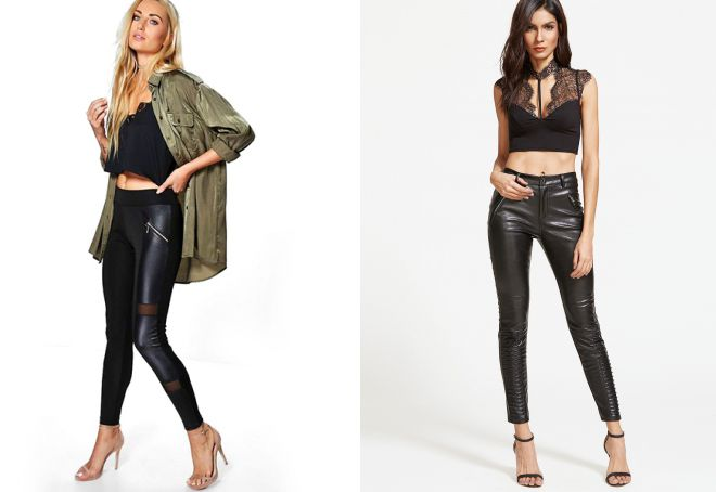 кожаные брюки мода