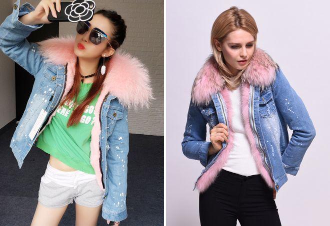 970bd6330af Женские джинсовые куртки с мехом вещь осенне-зимнего гардероба ...
