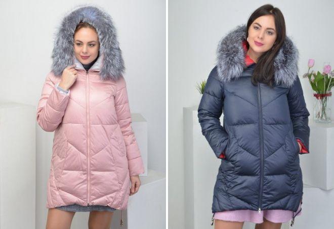 Зимние пуховики для полных девушек