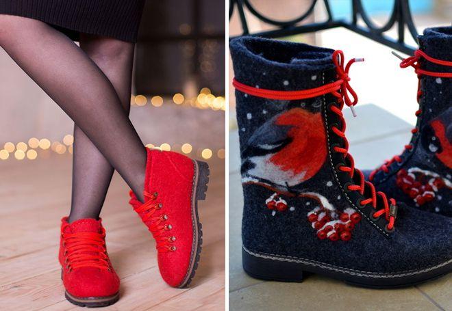 женские валенки ботинки