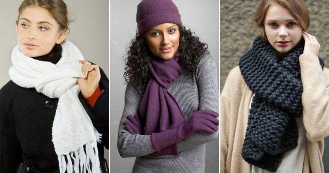 Способы завязывания вязаных шарфов