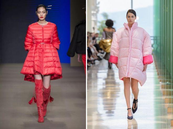 модные цвета пуховиков 2018 2019