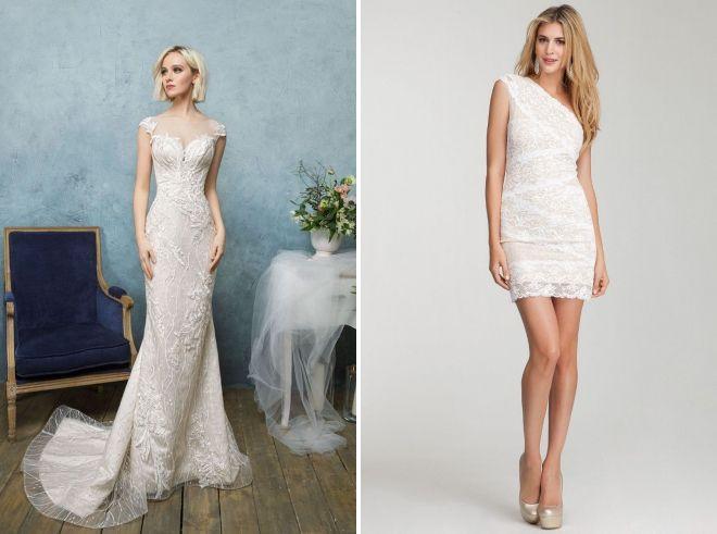 кружевное свадебное платье в обтяжку