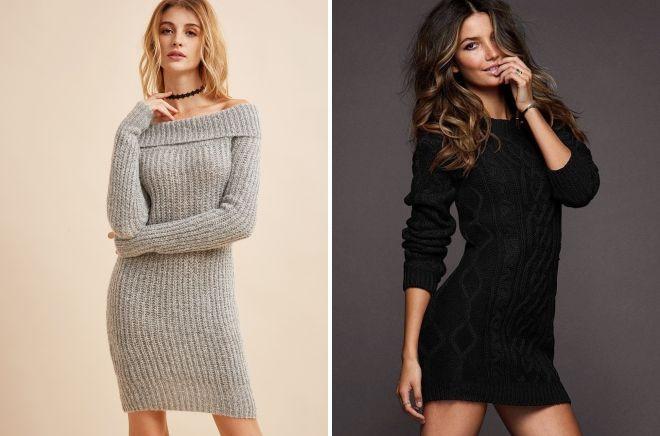 платье свитер в обтяжку