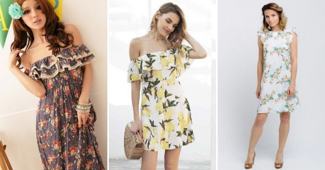 Модные платья с рюшами