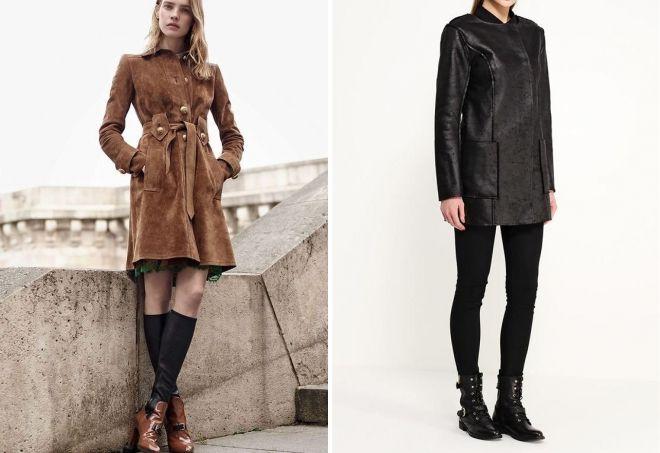 образы с замшевым пальто