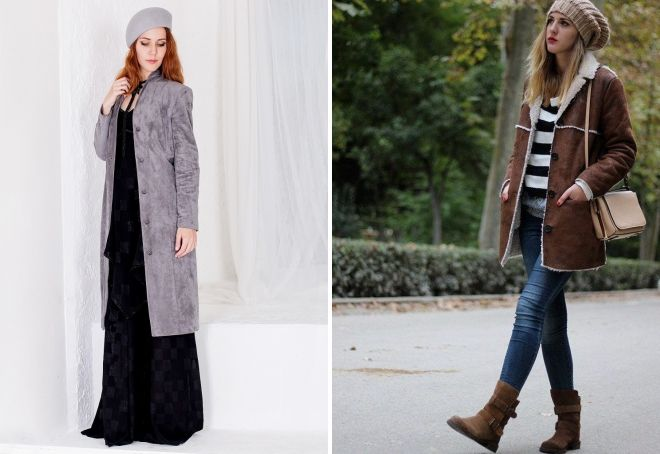 какую шапку выбрать к замшевому пальто