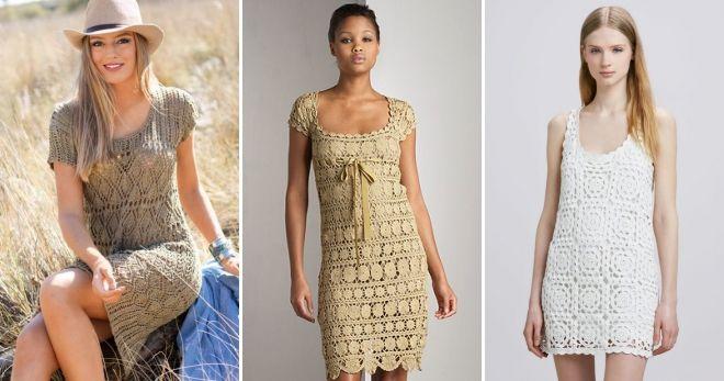 Вязаное кофта-платье