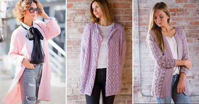 Модные вязаные кофты 2018-2019