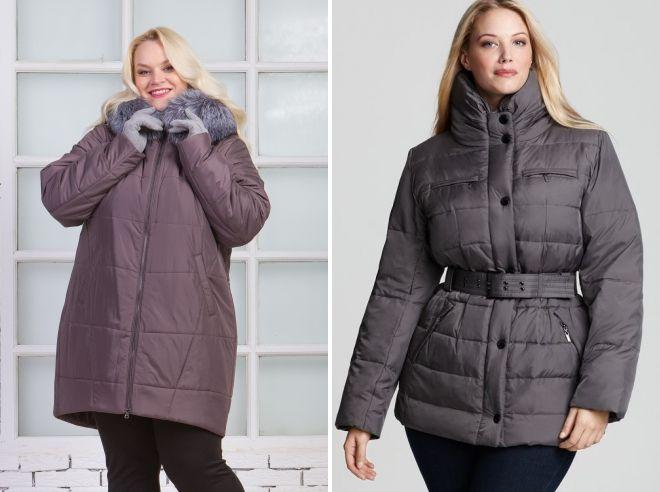 зимние куртки 2019 для полных