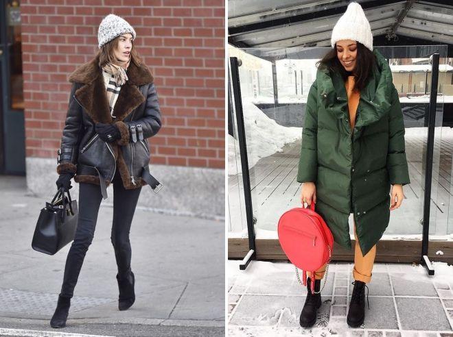 зимние образы 2018 2019 с курткой