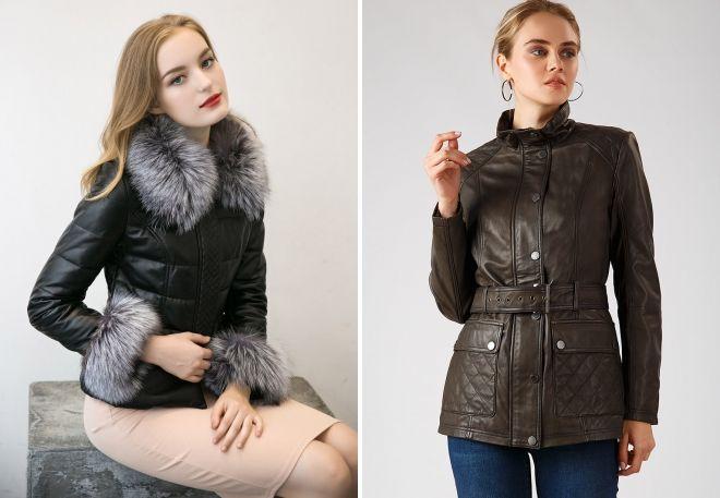 модные кожаные куртки 2018 2019