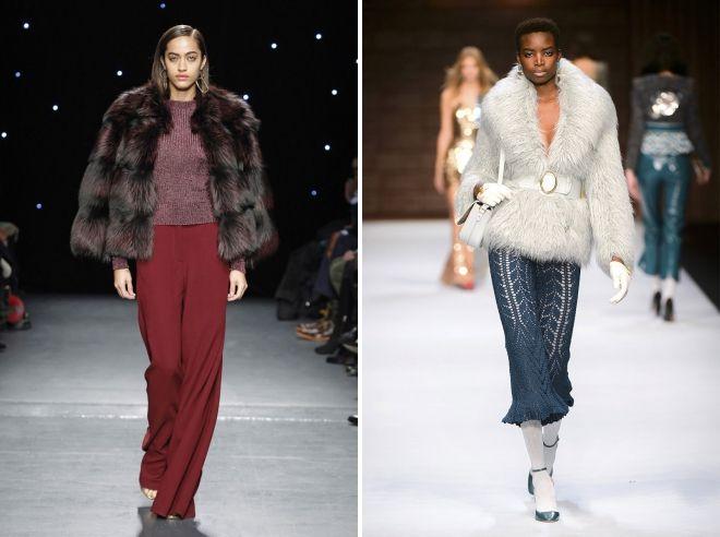 модные меховые куртки 2019