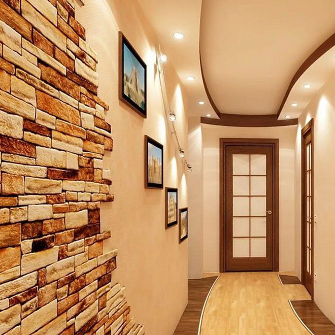коридор дизайн фото в квартире камнем новинку