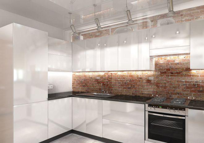 кухня лофт в квартире дизайн освещение мебель и аксессуары