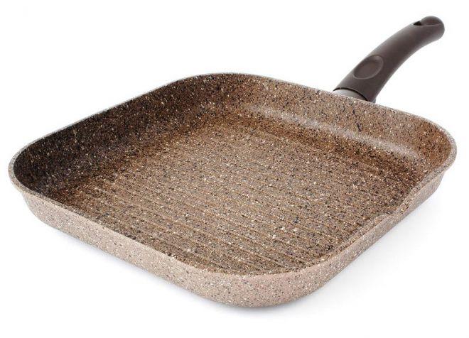 сковорода гриль с мраморным покрытием