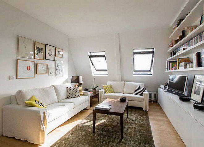 Дизайн гостиной в частном доме, хрущевке