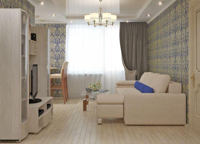 спальня и гостиная в одной комнате дизайн идеи зонирования интерьера