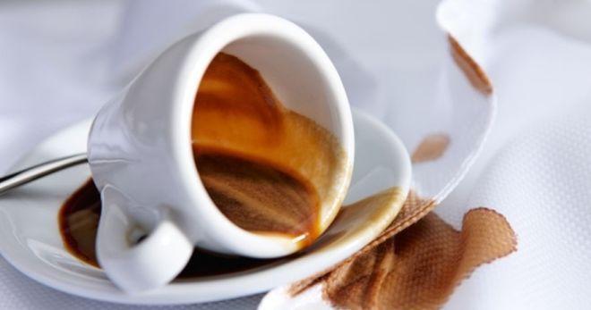 Как вывести застарелые пятна чая и кофе фото