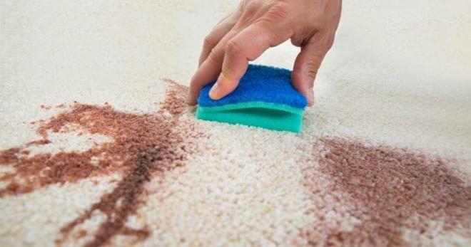 Как очистить пятна на ковре от краски для фото