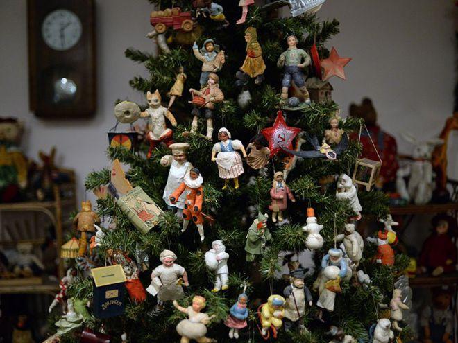 Украшение дома старыми новогодними игрушками