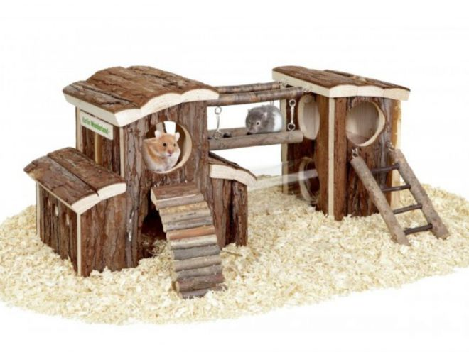 Домики для хомяка из дерева