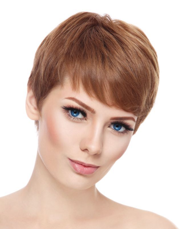 стрижка гарсон на средние волосы шатен