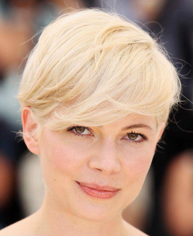 стрижка гарсон на длинные волосы блонд