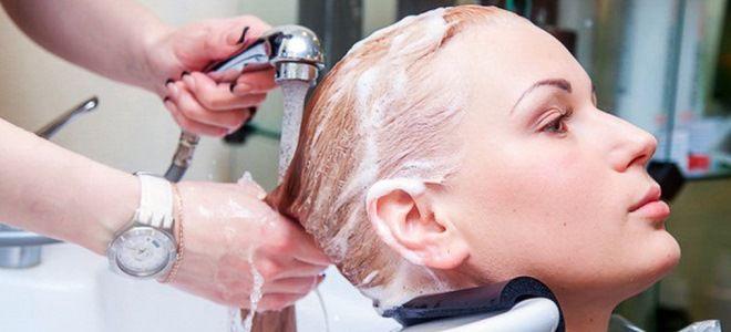 смывка краски с волос в салоне