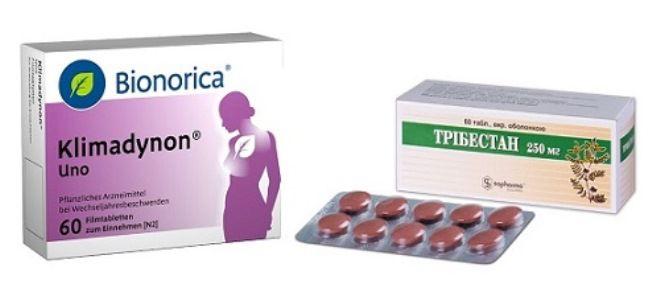 какие лекарства принимать женщине при климаксе