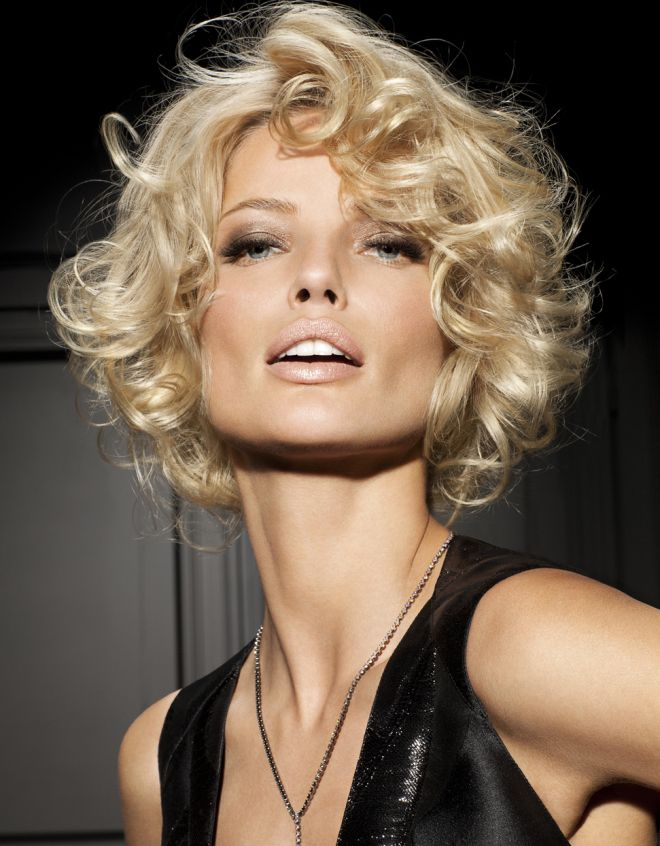 Styling cheveux courts curling trois